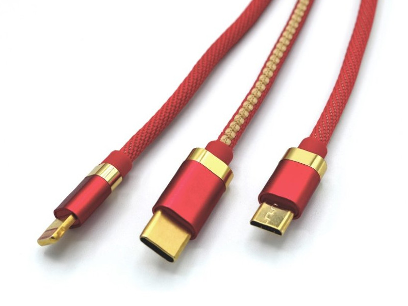 Аксессуар Innovation O3IMT-OCTOPUS Lux 3в1 USB - MicroUSB/Type-C/Lightning 1.2m 2A Red 14784 кабель для телефона usb innovation o3imt octopus 3 в 1 длина 1 2 метр 2a белый
