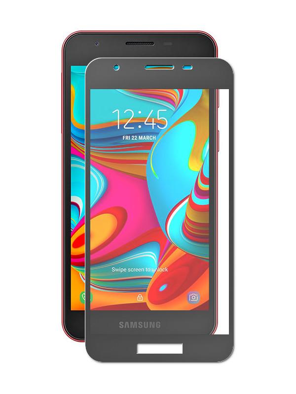 Аксессуар Защитное стекло Palmexx для Samsung Galaxy A2 Core 5D Black PX/BULL SAM