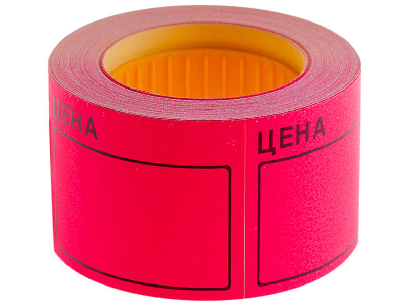 Ценник OfficeSpace 50x40mm 200шт/рулон Crimson Spt_4162