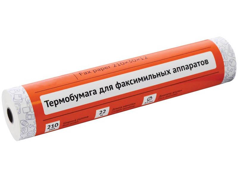 Ролик для факса из термобумаги OfficeSpace 210x30x12mm OS22 / 153180