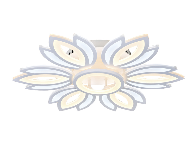 Светильник Ambrella FA456/6+1 WH 132W D640