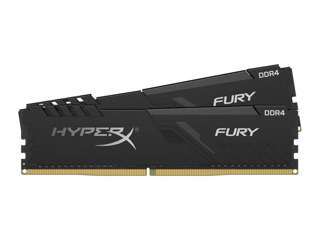 Модуль памяти Kingston HyperX Fury Black DDR4 DIMM 3200Mhz PC-25600 CL16 - 8Gb Kit (2x4Gb) HX432C16FB3K2/8