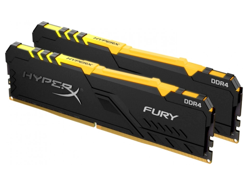 Модуль памяти Kingston HyperX Fury RGB DDR4 DIMM 3200Mhz PC-25600 CL16 - 32Gb Kit (2x16Gb) HX432C16FB3AK2/32