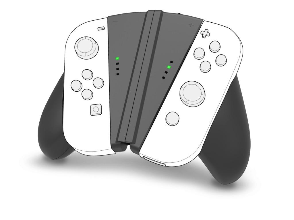 Крепление для контроллера Speedlink V-Grip Handle Nintendo Switch SL-330602-BK