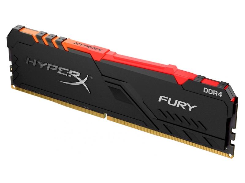 Модуль памяти Kingston HyperX Fury RGB DDR4 DIMM 3466Mhz PC-27700 CL16 - 16Gb HX434C16FB3A/16 полный хо v цвет ddr4 3000 16gb 8gbx2 бар секция рабочего стола памяти ipl rgb