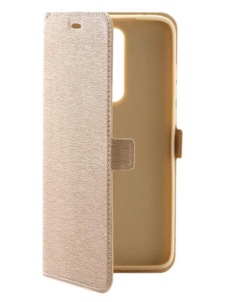 Чехол DF для Xiaomi Redmi Note 8 Pro xiFlip-50 Gold чехол с флипом для xiaomi redmi 6 df xiflip 29