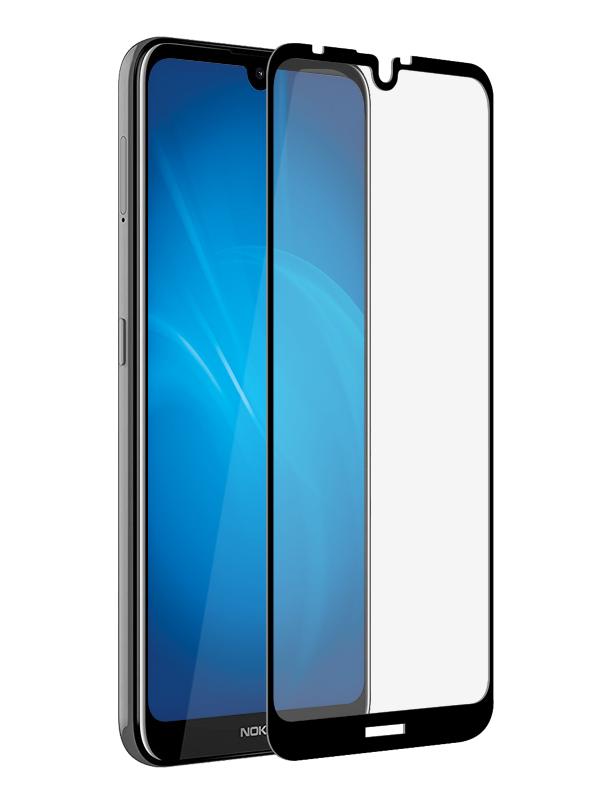Аксессуар Закаленное стекло DF для Nokia 3.2 Fullscreen nkColor-18 Black