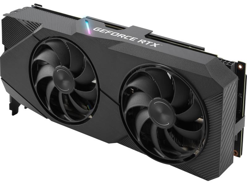 Видеокарта ASUS GeForce RTX 2060 SUPER 1500Mhz PCI-E 3.0 8192Mb 14000Mhz 256 bit DP 2xHDMI DVI DUAL-RTX2060S-A8G-EVO
