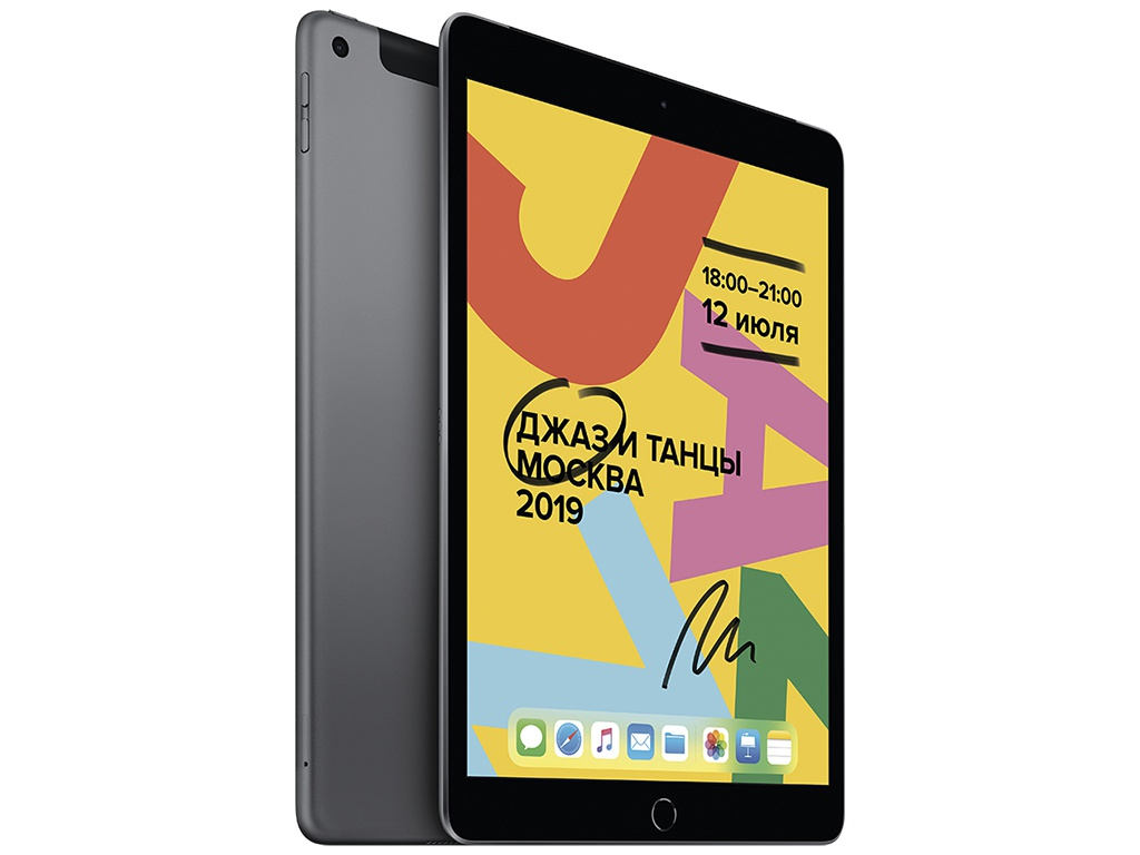 Планшет APPLE iPad 10.2 2019 Wi-Fi + Cellular 32Gb Space Grey MW6A2RU/A