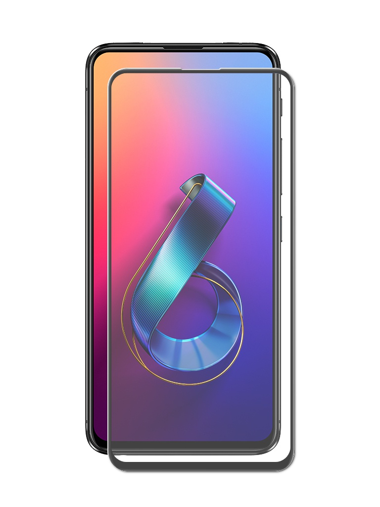 Защитное стекло Brosco для ASUS ZenFone 6 ZS630KL Full Screen Glue Black AS-ZF6-FSP-GLASS-BLACK