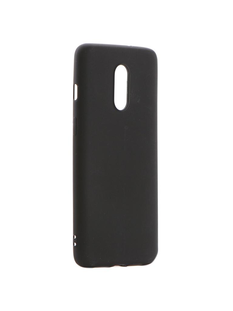 Аксессуар Чехол Brosco для OnePlus 7 Softtouch Black ONEPLUS-7-NSRB-BLACK