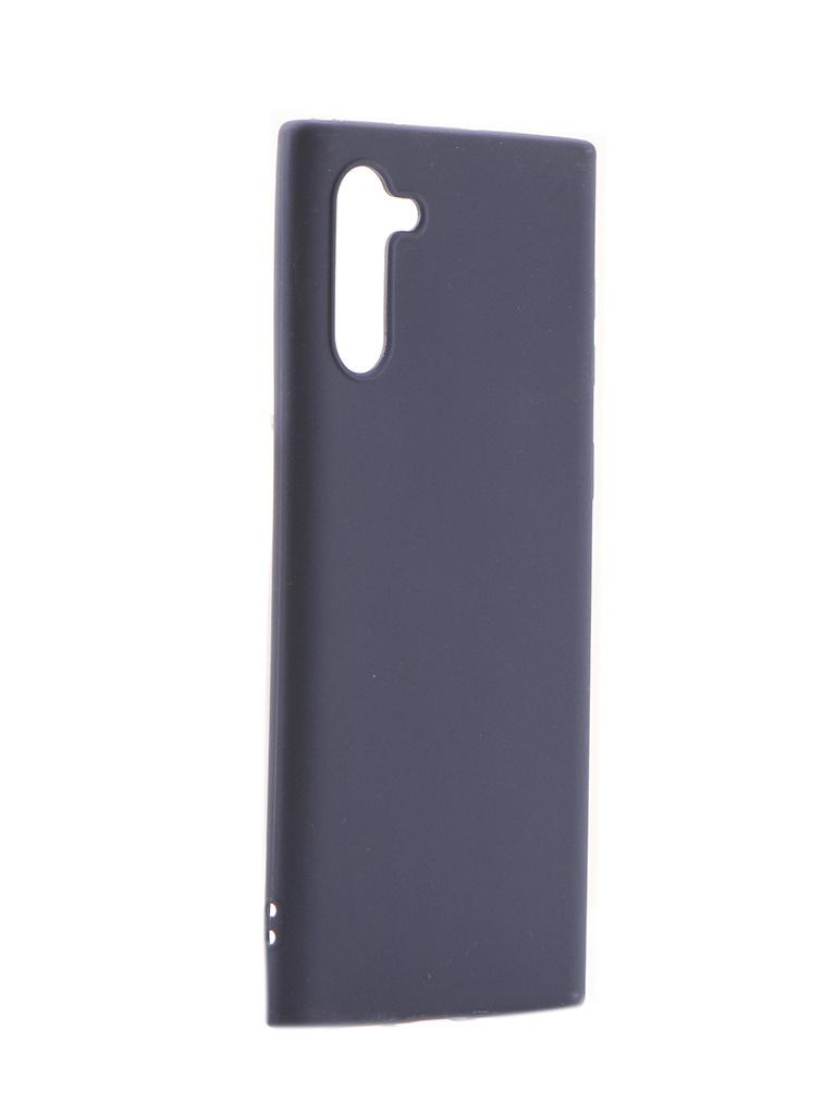 Чехол Brosco для Samsung Galaxy Note 10 Blue Matte SS-N10-COLOURFUL-BLUE