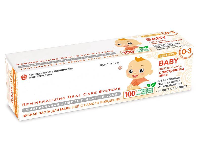 лучшая цена Зубная паста R.O.C.S. Baby Нежный уход с экстрактом Айвы 45g 03-01-047