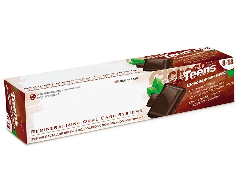Зубная паста R.O.C.S. Teens Шоколадный мусс 74g 03-01-048