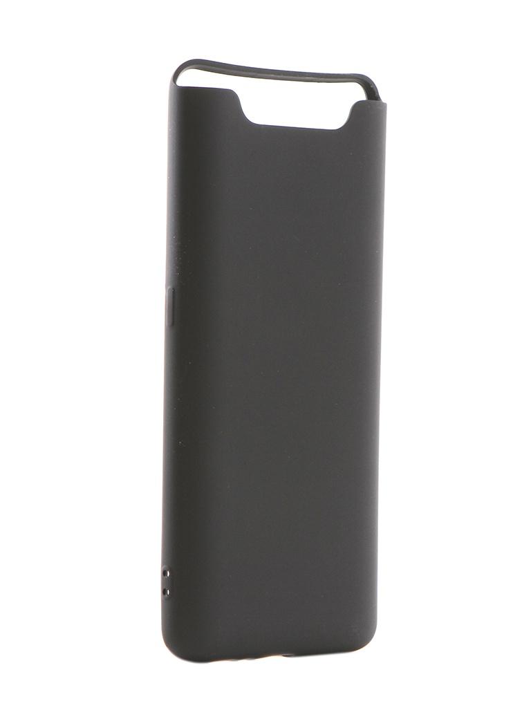 Аксессуар Чехол Brosco для Samsung Galaxy A80 Softtouch Black SS-A80-NSRB-BLACK