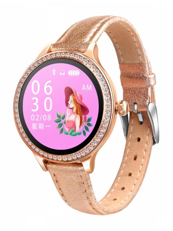 Умные часы ZDK M8 Gold Leather