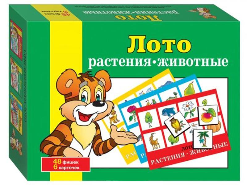 Настольная игра Step Puzzle Лото Растения-животные 80303