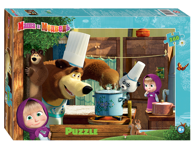 самокат 2 х колесный next маша и медведь st alu masha and bear Пазл Step Puzzle Маша и Медведь - 2 95082