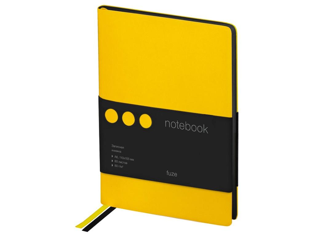 Записная книжка Berlingo Fuze А6 80 листов Black-Yellow NB0_87609