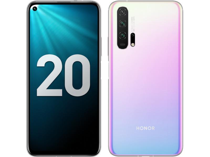 Сотовый телефон Honor 20 Pro 256Gb Icelandic Frost