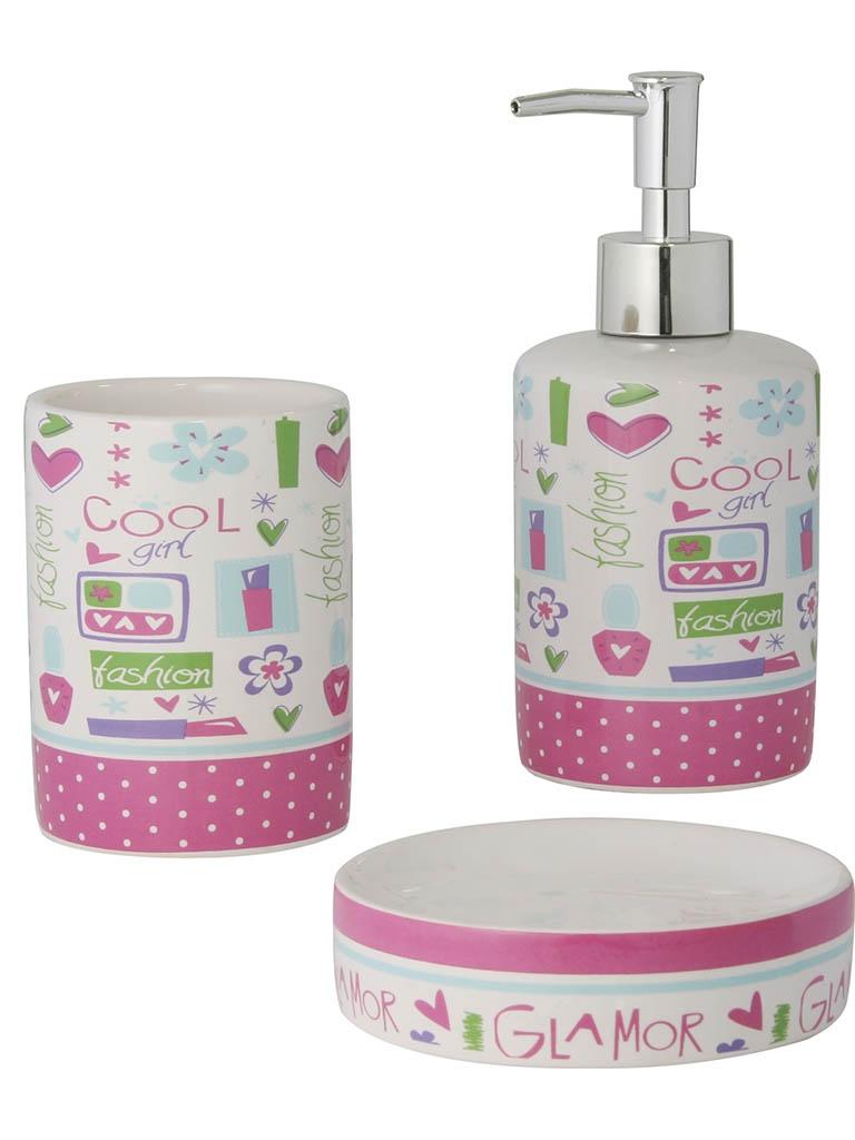 Набор для ванной комнаты Axentia Lily 122501