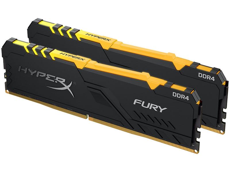 Модуль памяти Kingston HyperX Fury RGB DDR4 DIMM 3000MHz PC4-24000 CL15 - 16Gb KIT (2x8Gb) HX430C15FB3AK2/16 все цены