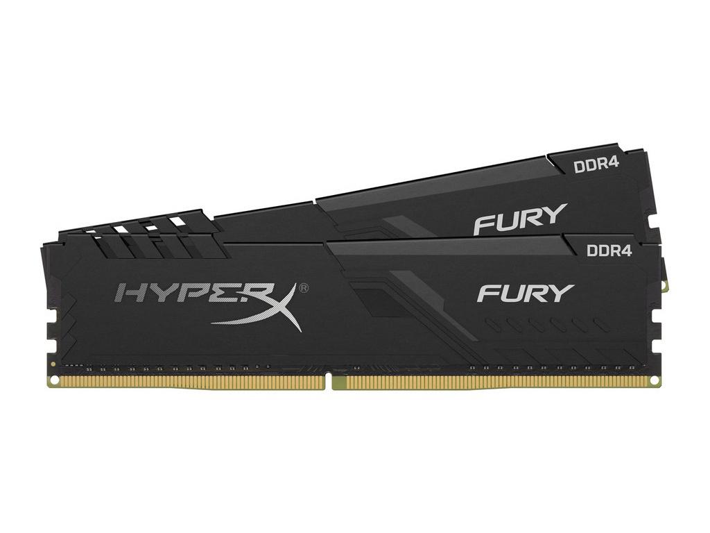 Модуль памяти HyperX Fury Black DDR4 DIMM 2666MHz PC4-21300 CL16 - 16Gb KIT (2x8Gb) HX426C16FB3K2/16
