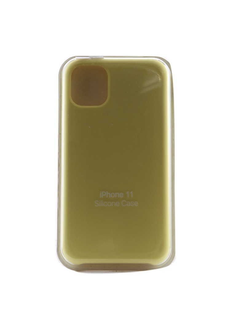 Чехол Innovation для APPLE iPhone 11 Silicone Case Hot Yellow 16464