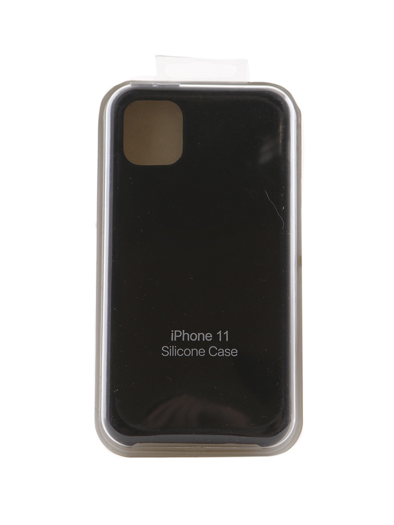 Аксессуар Чехол Innovation для APPLE iPhone 11 Silicone Case Black 16462