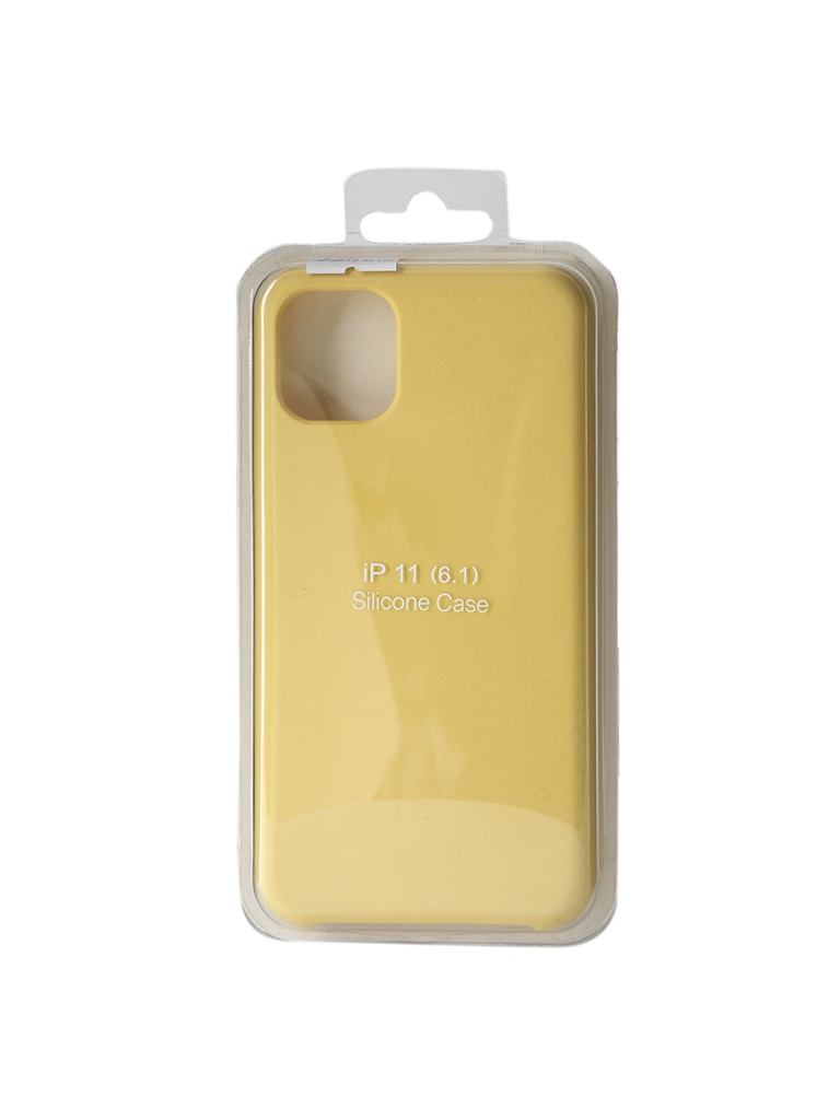 Аксессуар Чехол Innovation для APPLE iPhone 11 Silicone Case Yellow 16450