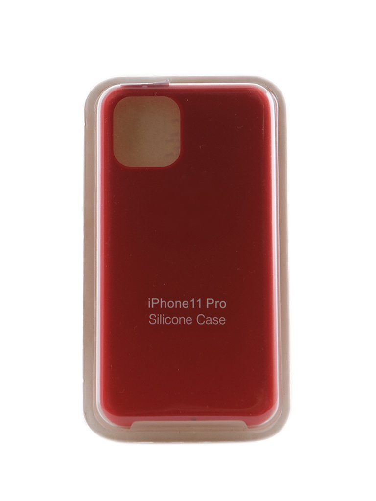 Чехол Innovation для APPLE iPhone 11 Pro Silicone Case Red 16436