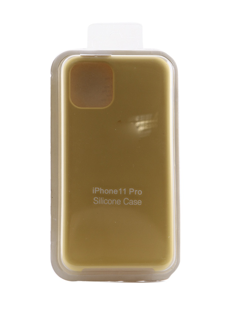 Чехол Innovation для APPLE iPhone 11 Pro Silicone Yellow 16431