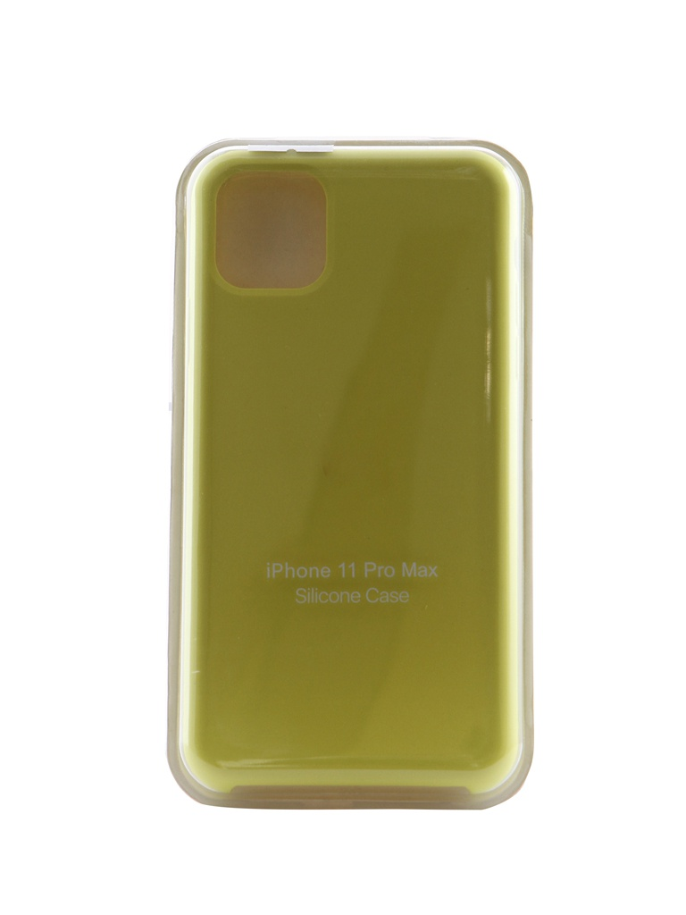 Чехол Innovation для APPLE iPhone 11 Pro Max Silicone Case Hot Yellow 16476