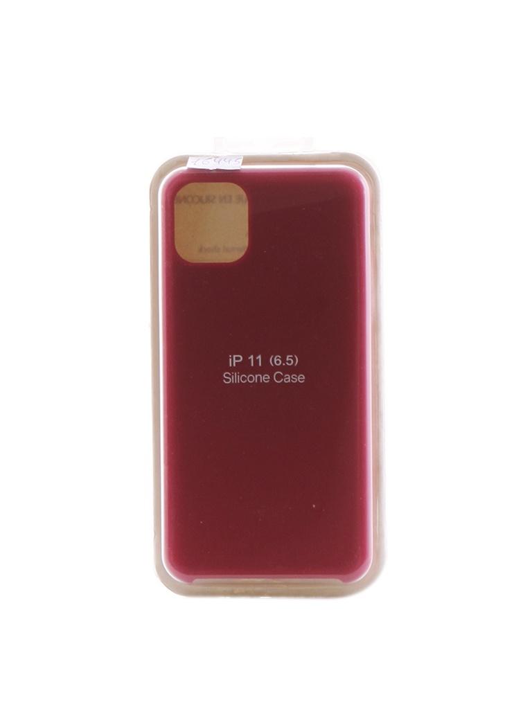 Аксессуар Чехол Innovation для APPLE iPhone 11 Pro Max Silicone Case Crimson 16445 аксессуар чехол innovation для apple iphone 11 pro max silicone case grey 16477