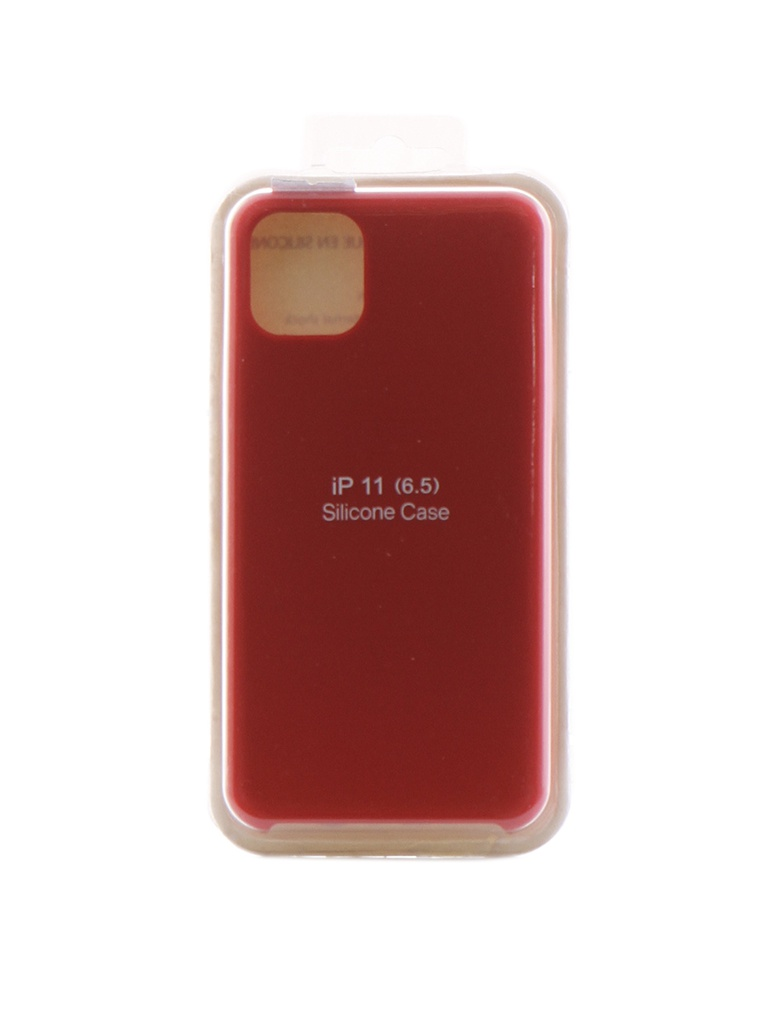 Чехол Innovation для APPLE iPhone 11 Pro Max Silicone Case Red 16443