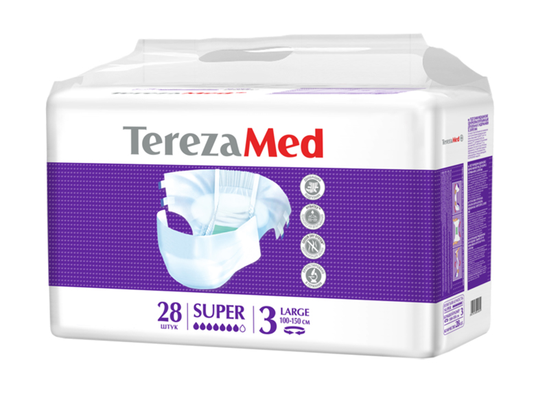 Подгузники TerezaMed Super Large №3 28шт
