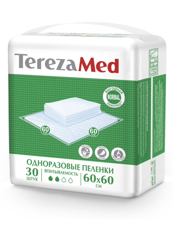 Пеленки TerezaMed Normal 60x60cm 30шт