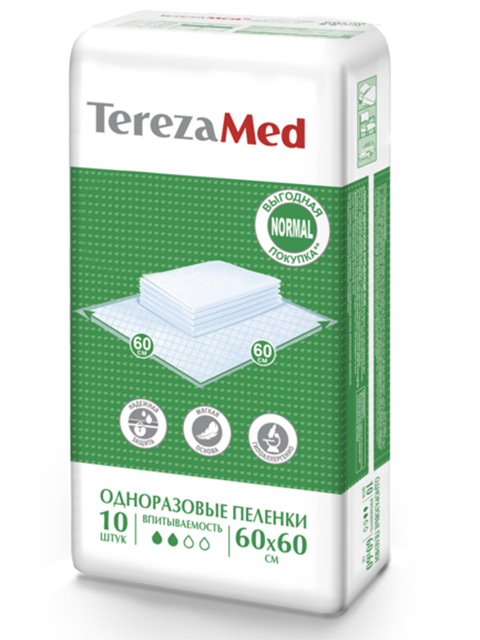 Пеленки TerezaMed Normal 60x60cm 10шт
