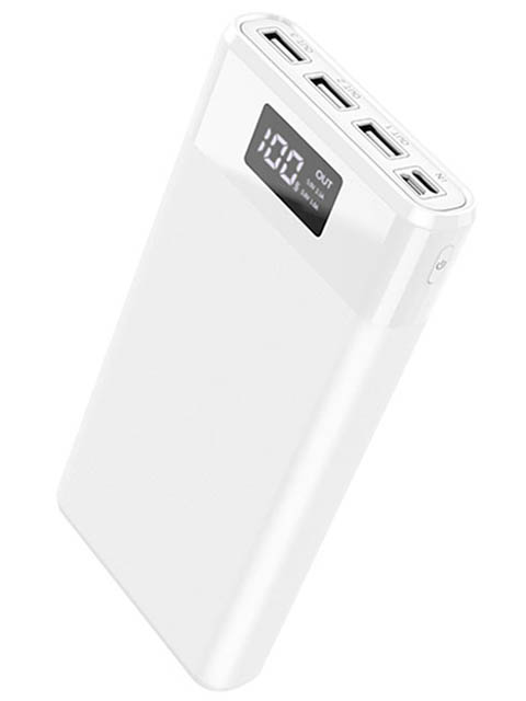Внешний аккумулятор Hoco Power Bank B35E Entourage 30000mAh White