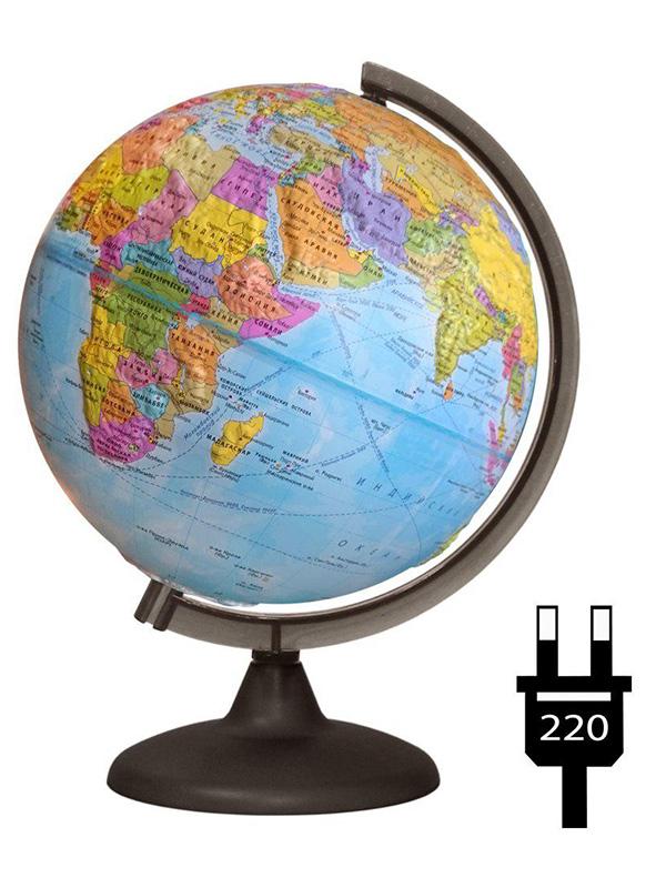 Глобус Глобусный Мир Физико-политический 320mm рельефный 17032