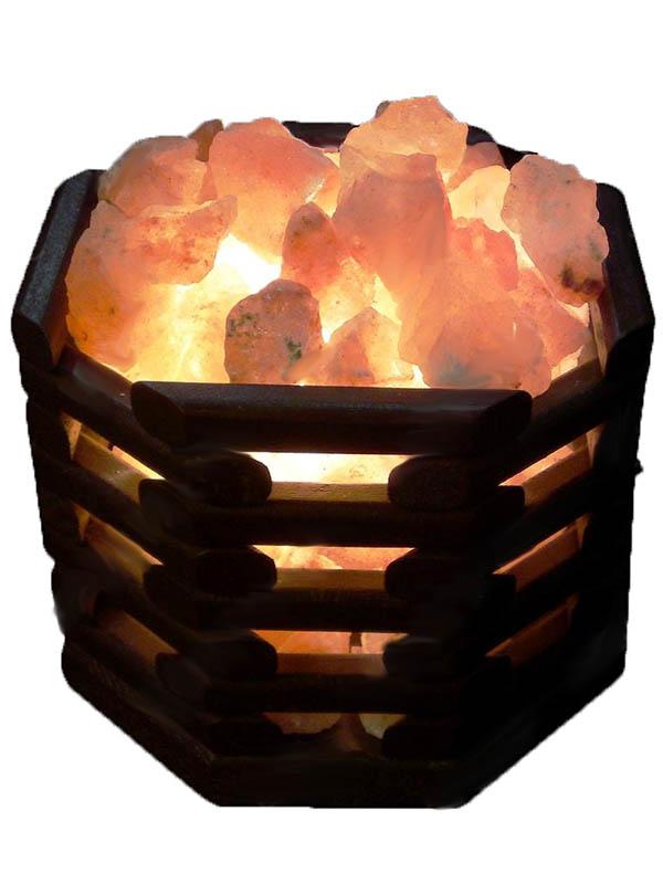 Солевая лампа Wonder Life Октагон темный 2кг SLL-12070-W2