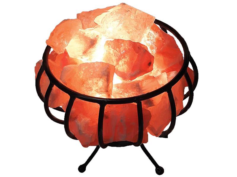 Солевая лампа Wonder Life Металлическая корзина с камнями 2-3кг SLL-12061