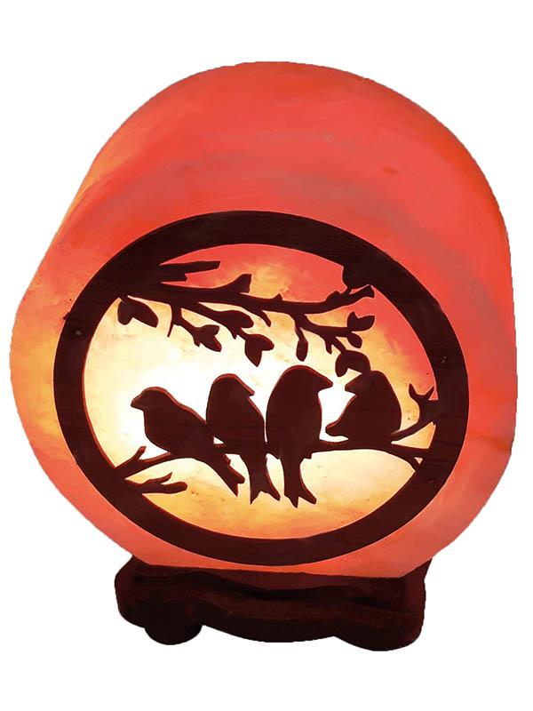 Солевая лампа Wonder Life Круг- 5 Птички 2-3кг SLL-12508