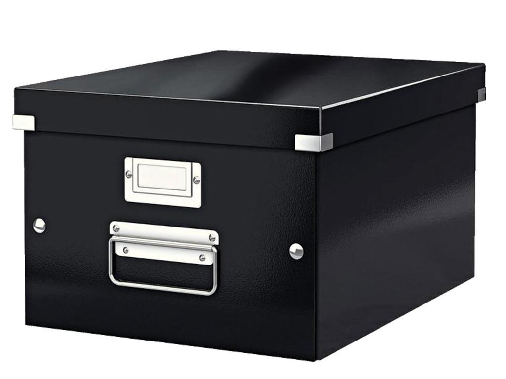 Короб архивный Leitz Click & Store L Black 60450095