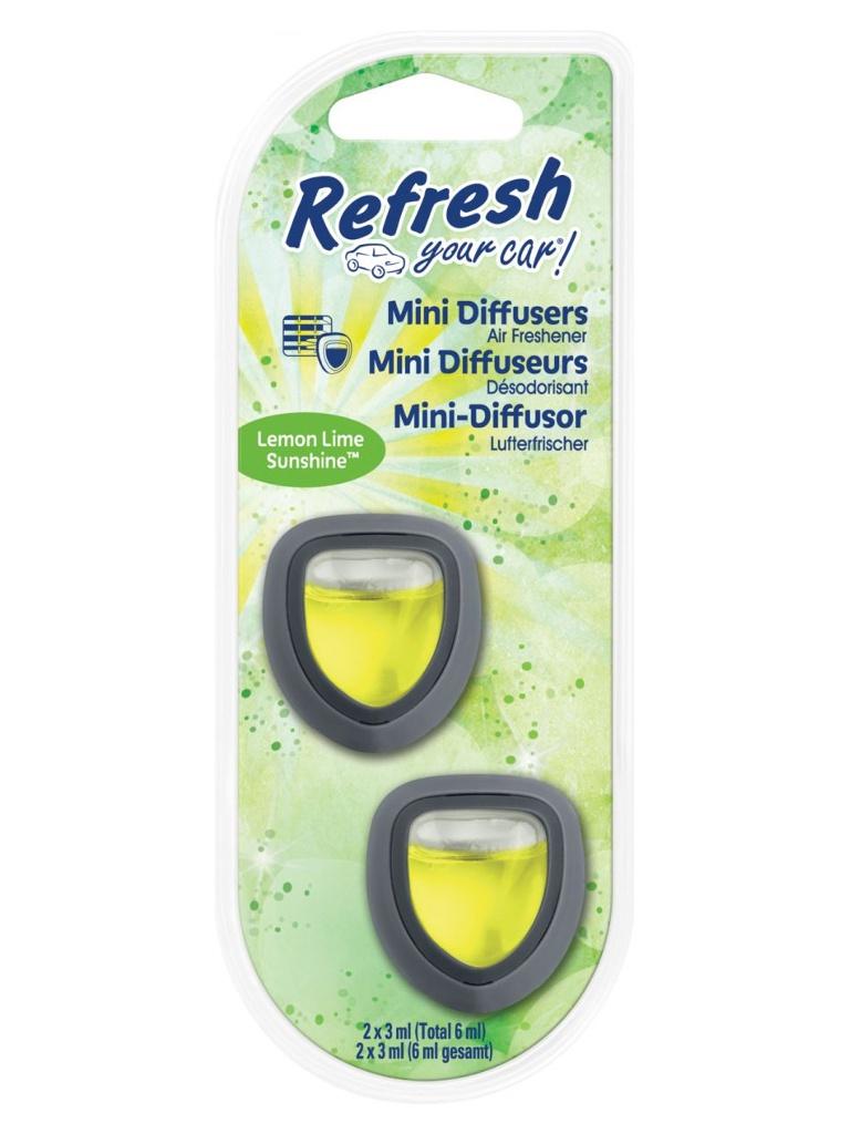 Освежитель воздуха автомобильный Energizer RYC Мини Диффузор Солнечный лимон лайм 2шт E301410100 / 37285