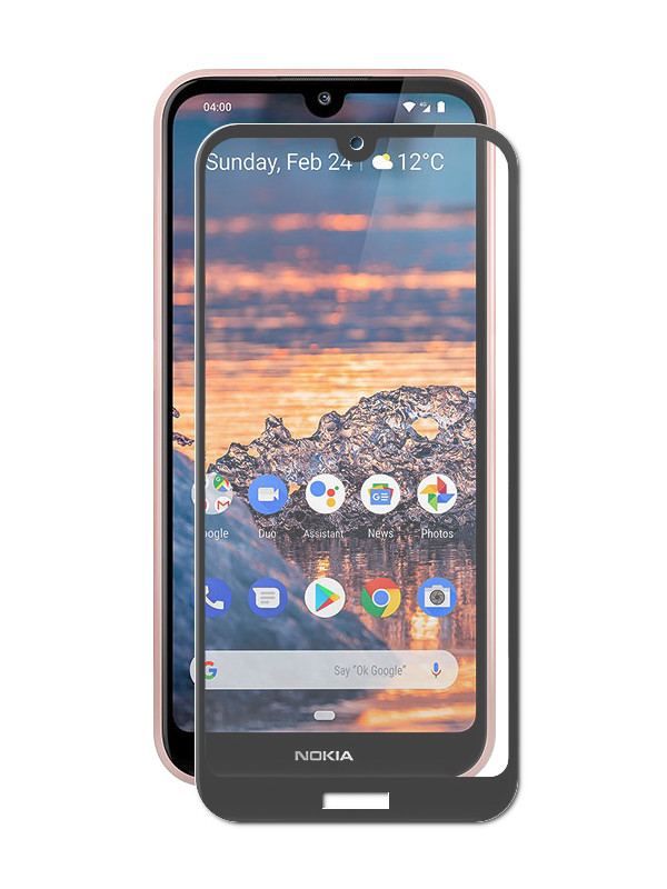 цена на Защитное стекло Svekla для Nokia 4.2 Full Glue Black ZS-SVNO42-FSBL