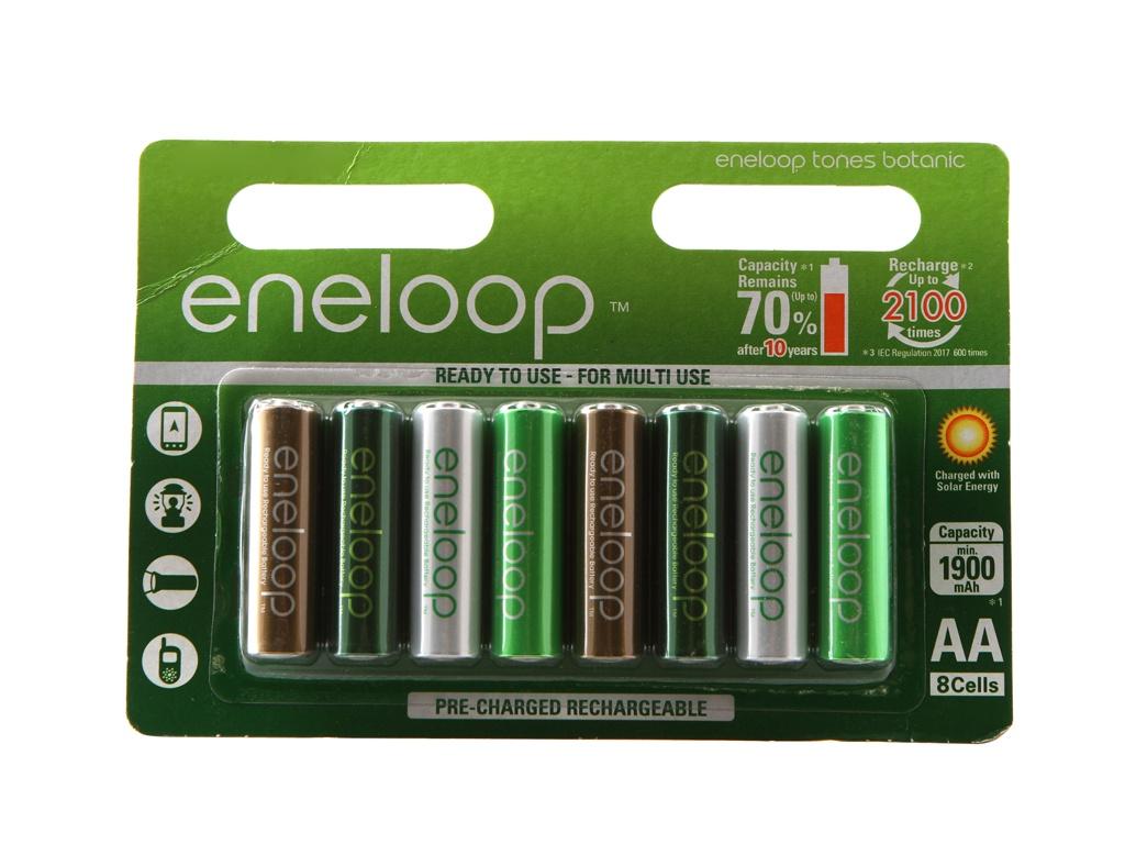 Аккумулятор AA - Panasonic Eneloop Botanic Edition 1900 mAh (8 штук) BK-3MCCE/8TE