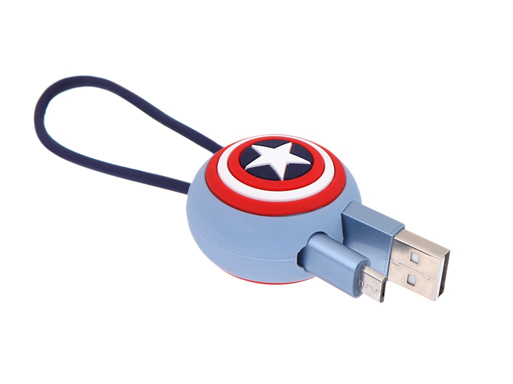 Аксессуар Red Line Marvel USB - Lightning 20cm Captain America УТ000018829