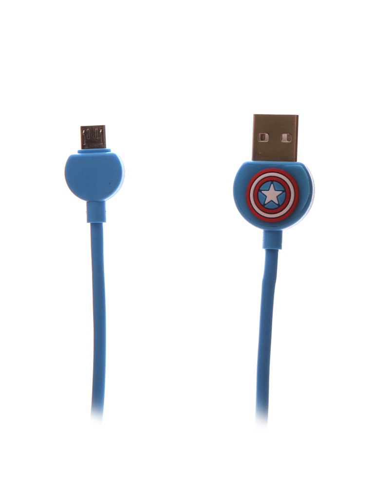 Аксессуар Red Line Marvel USB - MicroUSB Captain America УТ000018827