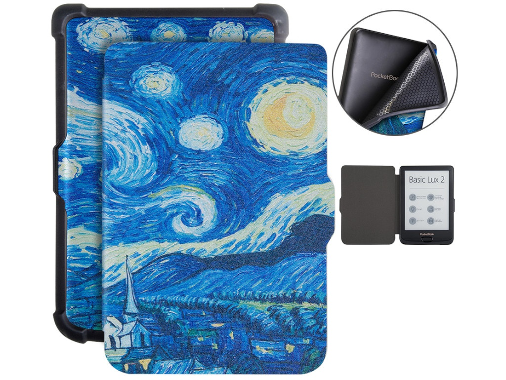 Аксессуар Чехол BookCase для PocketBook 606/616/627/628/632/633 Starry Sky BC-632-sky